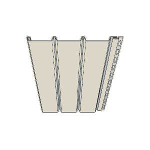 Cellwood CEEVS12NM4 Vinyl Soffit Triple-4 Solid Sand
