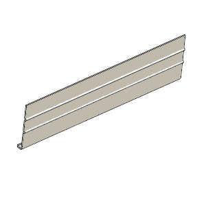 Cellwood ALF1C80N4 Aluminum Fascia Woodgrain 8 in Khaki