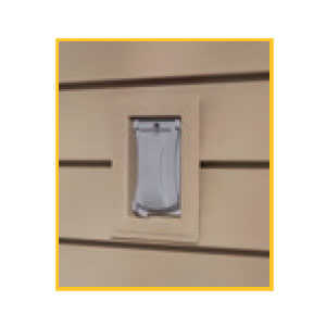 Cellwood CEMBLOCKR04 Vinyl Recessed J-Block Mounting Block White