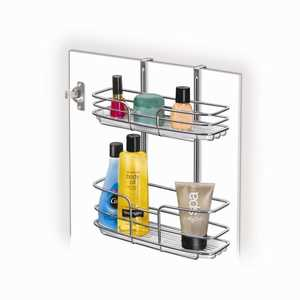 Lynk Inc 601400 Double Shelf Overdoor Organizer Chrome