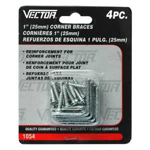 Vector 1054 Brace Corner 1 in 4pc