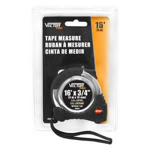 Vector 10820 Tape Measure 3/4x16 ft