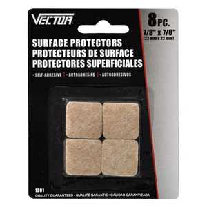 Vector 1301 Surface Protector 7/8x7/8 8pc