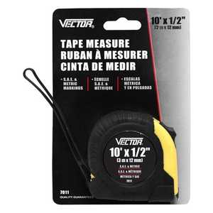 Vector 7011 Tape Measure 1/2 in x10 ft