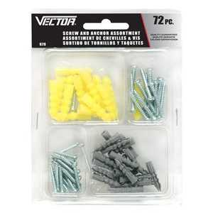 Vector 979 Screw & Anchor Asst 72pc
