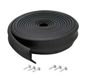 M-D Building Products 3723 Rubber Garage Door Bottom 9 ft Black