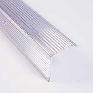 M-D Building Products 43746 Stair Edging Fluted 96 in Satin Chrome