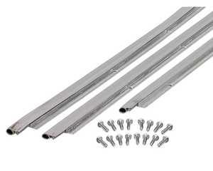 M-D Building Products 49002 Universal Door Jamb Weatherstrip Kit - Satin Nickel 36x84