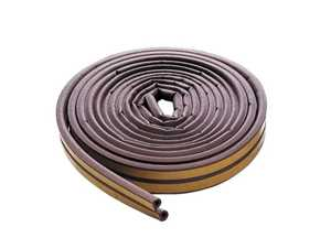 M-D Building Products 63602 Weatherstrip All Climate D Strip 17 ft Brown