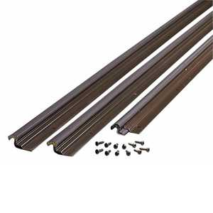 M-D Building Products 87783 Compression Weatherstrip W/Aluminum Stop Door Jamb Kit Bronze
