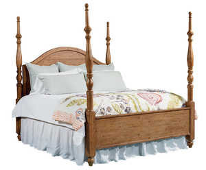 Magnolia Home 2070201I Camelback Poster Bed Queen Headboard In Bench Finish
