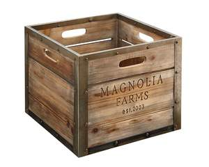 Magnolia Home 90900513 Wood Magnolia Farms Produce Crate