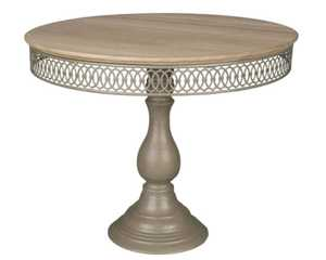 Magnolia Home 90900014 Small French Grey Filigree Dessert Pedestal