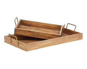 Magnolia Home 90902003 Large Breakfast Tray With Metal Handles
