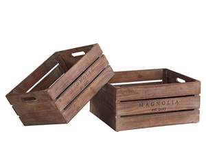 Magnolia Home 90900506 Small Wood Harvest Crate
