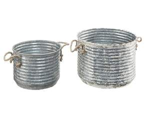 Magnolia Home 90901015 Galvanized Apple Buckets With Rope Handles