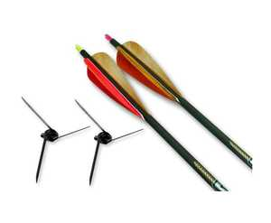 Magnus Broadheads BHC125-2 Bullhead 125gr Turkey Broadhead Kit With Two Arrows