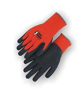 Polar Penguin 3396HO/L Large High-Visibility Orange Knit Gloves with Rubber Palm