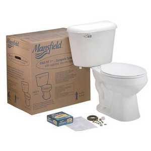 Mansfield Plumbing PROFIT#1WH Round Front Toilet Kit White