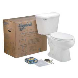 Mansfield Plumbing PROFIT#2WH Elongated Front Toilet Kit White