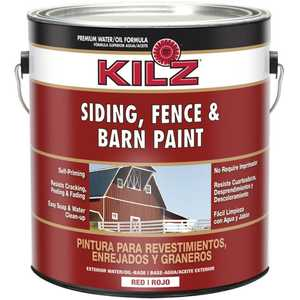 Kilz 10111 Kilz 1-Gal. Siding, Fence & Barn Paint, Red