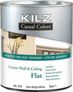 Kilz MR31004 Kilz Casual Colors Interior Flat Tint Base 1 - Qt