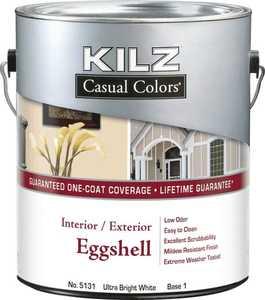 Kilz MR513511 Kilz Casual Colors Int/Ext Paint Eggshell White Gal