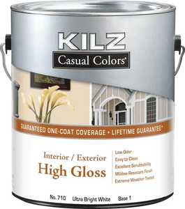 Kilz MR71001 Kilz Casual Colors Int/Ext Paint High Gloss Tint Base 1 - Gal