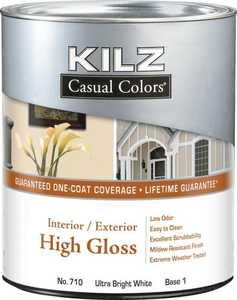 Kilz MR71004 Kilz Casual Colors Int/Ext Paint High Gloss Tint Base 1 - Qt