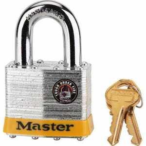 Master Lock 17DPF 2-Inch Wide 5-Pin Laminated Steel Tumbler Padlock