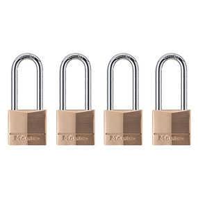 Master Lock 140QLH 1-9/16-Inch Solid Brass Padlock 4-Pack