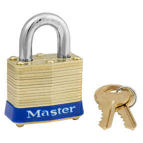 Master Lock 4D 1-9/16-Inch Wide Laminated Brass Pin Tumbler Padlock