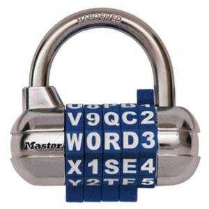 Master Lock 1534D 2-1/2-Inch Wide Set Your Own Password Combination Padlock