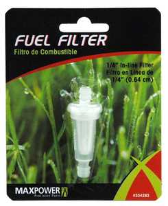 Max Power Precision Parts 334283C 1/4-Inch Fuel Line Filter