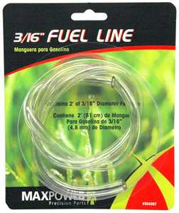Max Power Precision Parts 334287 2-Foot 3/16-Inch Clear Fuel Line