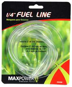 Max Power Precision Parts 334288C 1/4-Inch 2-Foot Clear Fuel Line