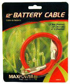 Max Power Precision Parts 339512 12-Inch Red Battery Cable