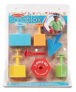 Melissa & Doug 8260 Sandblox Sand Shaping Set 7 Piece