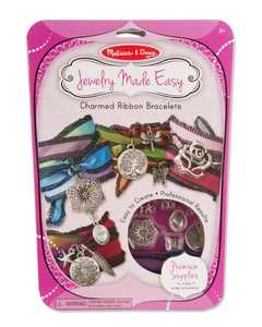 Melissa & Doug 9470 Jewelry Made Easy Charmed Ribbon Bracelets