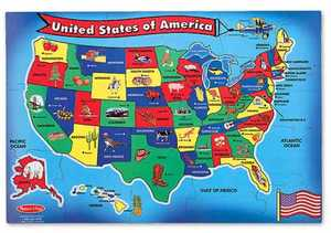 Melissa & Doug 440 United States Map Floor Puzzle
