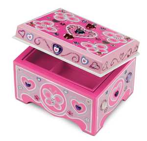 Melissa & Doug 8861 Decorate Your Own Wooden Jewelry Box