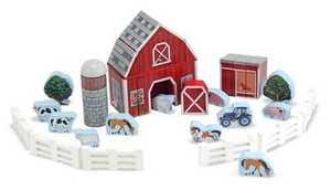 Melissa & Doug 531 Farm Blocks Play Set