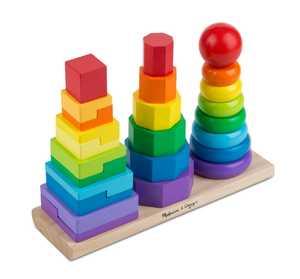 Melissa & Doug 567 Geometric Stacker Toddler Toy