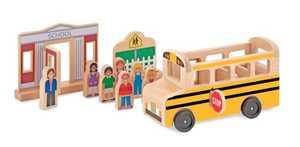 Melissa & Doug 4068 Whittle World Wooden School Bus Set
