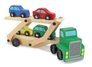 Melissa & Doug 4096 Car Carrier Truck & Cars Wooden Toy Set