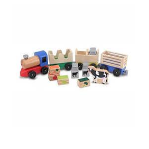 Melissa & Doug 4545 Wooden Farm Train Toy Set