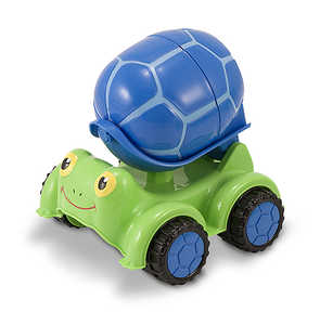 Melissa & Doug 6271 Scootin' Turtle Cement Mixer Toy