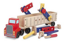 Melissa & Doug 2758 Big Rig Building Truck Wooden Play Set