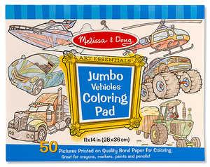 Melissa & Doug 4205 Jumbo Coloring Pad Vehicles
