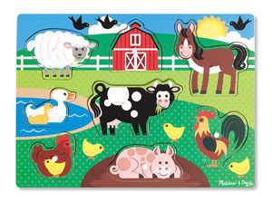Melissa & Doug 9050 Farm Peg Puzzle 8 Pieces